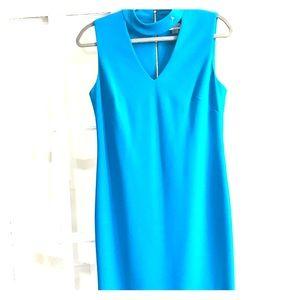 Calvin Klein light blue mid length dress